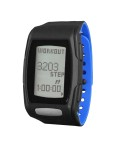 Zone C410 (Midnight Black/Blizzard Blue): Workout & Step Count Reading Screen